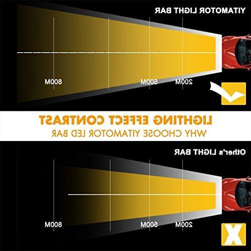 "YITAMOTOR 52"" inch 300W Combo+ 2X LED Light Mounting JK"