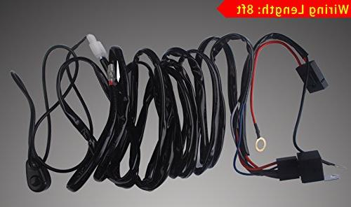YITAMOTOR Curved 50 Flood Spot LED Work Offroad SUV 4WD Jeep Wiring Year