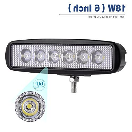 YITAMOTOR LED 2PCS 18W 6 Flood LED Work Pods Road Light Driving Light Light 4WD Car Golf Cart