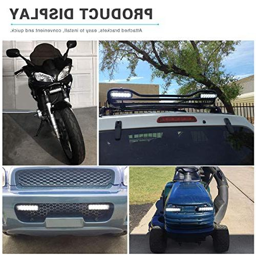 YITAMOTOR LED Bar 2PCS 6 Flood Pods Single Off Road Led Driving Light Fog Light 4WD Cart 12V 24V, 2 Year