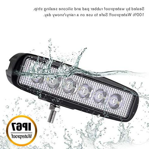 YITAMOTOR LED 2PCS Flood LED Work Light Pods Road Light Light Fog Light Waterproof SUV 4WD Cart Year