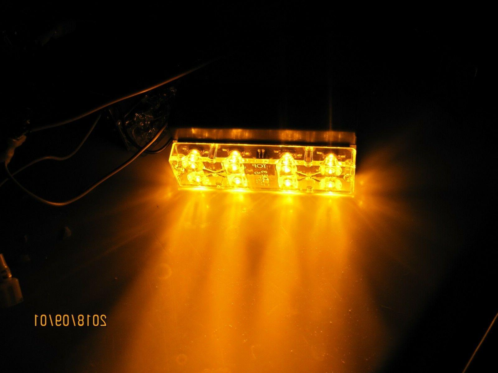amber led lightbar led 8 light module
