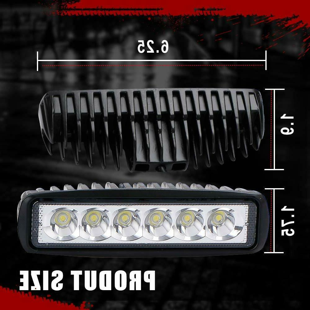Barra De Luz Trabajo LED Spot Luces Light Bar 6inch 18W ATV Truck