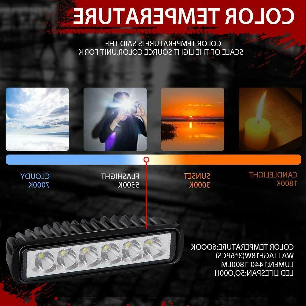 Barra De Trabajo Spot Fog Luces 6inch 18W LAMP Truck