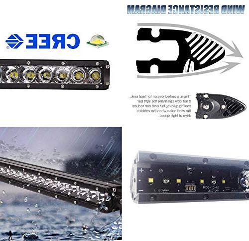 "iJDMTOY Behind 30"" LED Bar Kit For 2014-16 Chevy Silverado HD, Lightbar, Brackets On/Off Wiring"