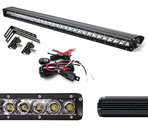 "iJDMTOY 30"" Light Kit 2014-16 HD, Includes Lightbar, Mesh Brackets & Wiring"