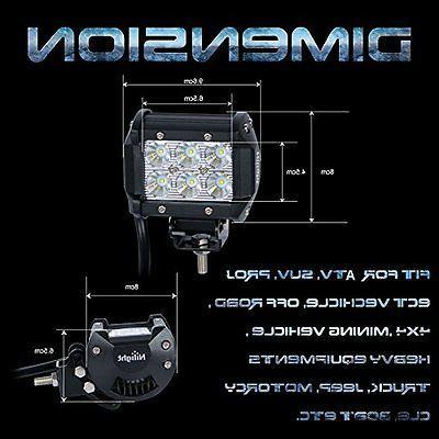 Nilight 2 X 1260lm Cree Beam Light Led Work Light Bar Mounting