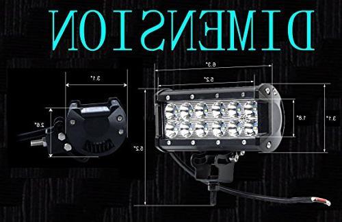 Cutequeen 3600 Lumens Cree Spot Light Rv Atv SUV Boat 4x4 Tractor Marine Lighting