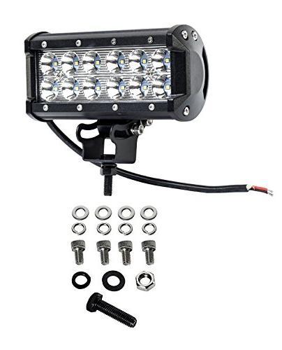 Cutequeen 4 X 3600 Lumens Cree LED Spot Light for Rv Atv 4x4 Lamp Tractor Marine