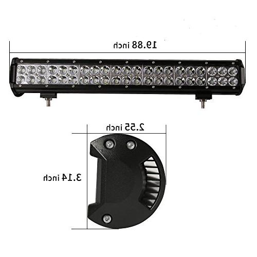 "Lumitek 20"" Led Light Bar Flood Spot Combo Fog Lights Off Light Bar for ATV, 4WD, Jeep, Boat"