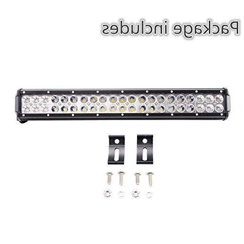 "Lumitek 20"" CREE Led Spot Lights Off Bar for Off-road Vehicle, ATV, SUV, UTV, Jeep,"