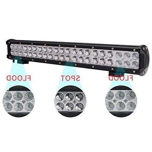 Lumitek 126W Led Light Spot Combo Fog Lights Off Bar for ATV, SUV, UTV, Jeep, Boat