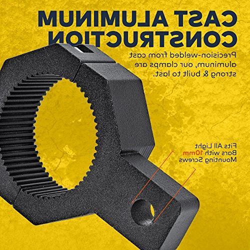 """Light Vertical Mounting Kit 1.75""""/ - Light Bull Tube Clamp Roof Cage Holder"""