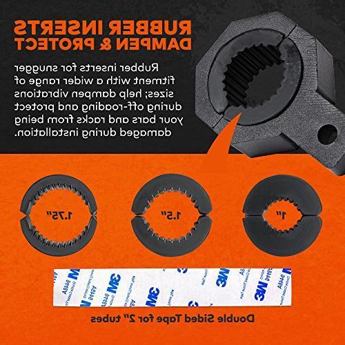 """LAMPHUS Cruizer Light Bar Mounting Kit 1.75""""/ 2"""" Light Bull Tube Clamp Roll Cage Holder"""