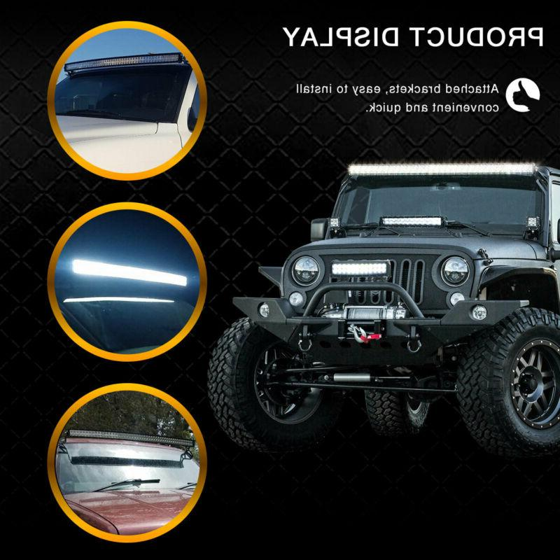 Curved LED Bar Combo Roof Driving Boat SUV