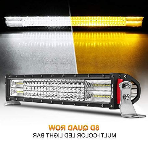 curved led light bar dual color quad