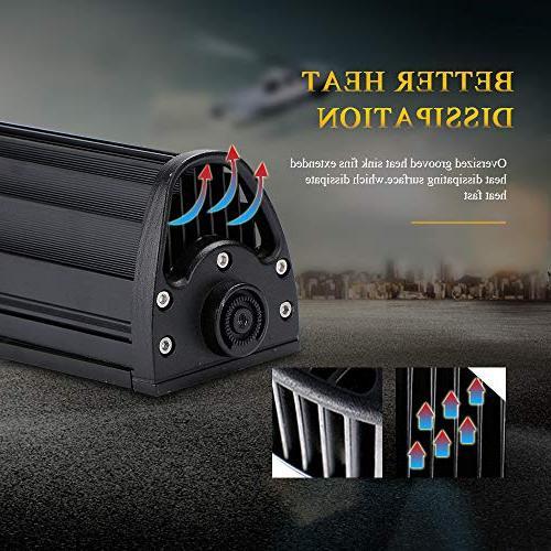 "DOT 50"" Light Bar Windshield Bumper Light Bar + 4Inch Fog Light + 1x Rocker Wiring Harness for Ford Boat Jeep Polaris"