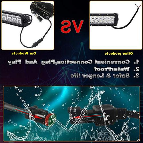 "TURBOSII Light 44 Flood Driving Lamp Off + 4"" LED Light Boat Truck SUV Toyota Jeep Warranty"