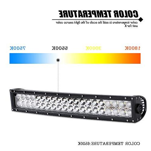 "Curved Light Bar + 20Inch Light 4"" Cube Pods + Rocker Switch Harness Kits Truck Jeep Dodge Toyota"