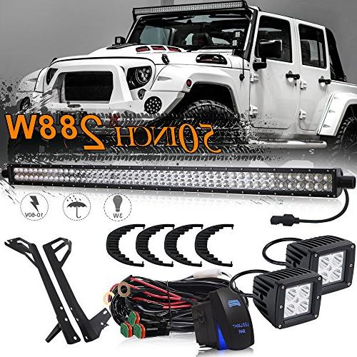 dot approved 50 inch 288w offroad led