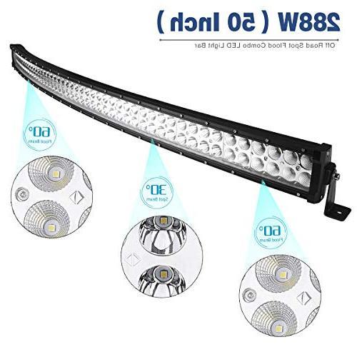 LED Light 50 Inch LED Bar Flood Combo Harness for GMC Truck Dodge Ram, 27,000