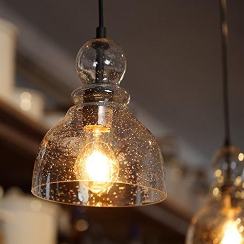 Lanros Mini Lights Seeded Glass Bell for Dining Bars