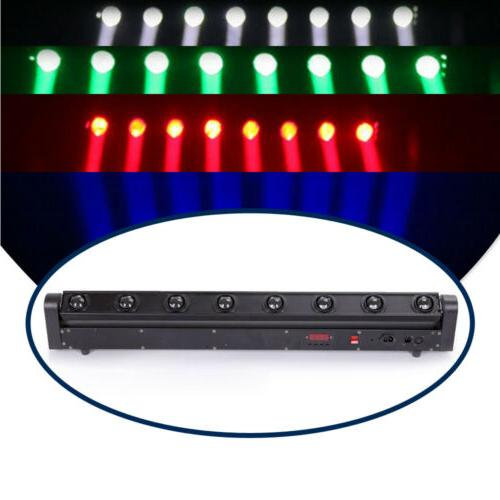 LED 8 Stage Head Beam Bar 4in1 RGBW Lights
