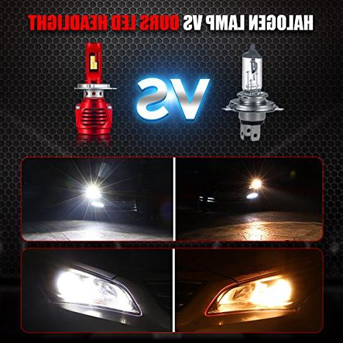 LED Headlight H4 8000LM LED Headlight Bulbs Conversion Kit 6500K For Car/Motorcycle, Warranty