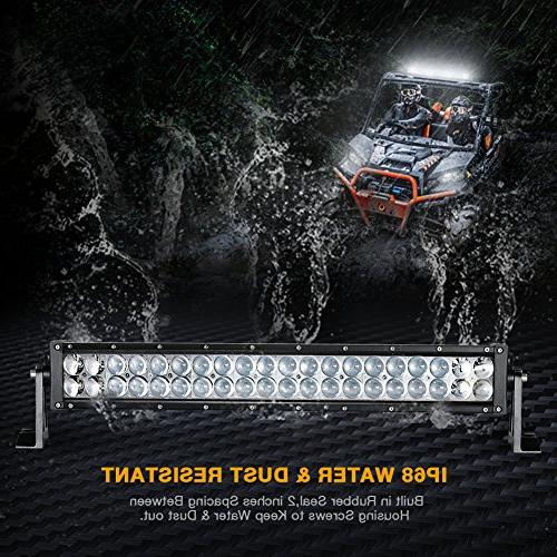 LED Light 16 Inch LED Light 4D with 8ft Harness Straight 12000Lumens Offroad & Flood Combo Beam,2 Year