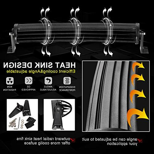 LED Light Bar 16 Inch LED Light 8ft Wiring Straight Fish 12000Lumens Offroad Automotive & Year Warranty