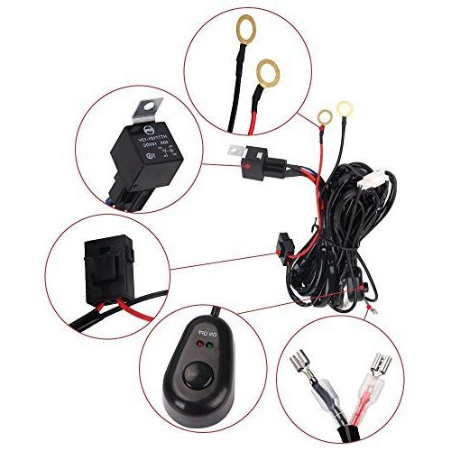 LED Light Bangbangche 20'' 126W Flood Combo with 10FT Wiring Harness, 18W Spot Bright, Tractor Off Road, Year