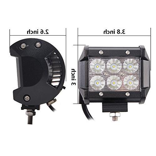 20'' 126W Flood Combo Bar 10FT Harness, X 18W Spot Led Pods Lights, Bright, Jeep Boat Tractor Year Warranty