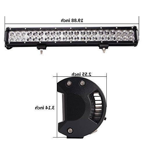 LED 20'' Combo Bar 10FT Harness, Spot Bright, Year Warranty