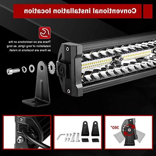 LED Bar 22Inch 20000LM Upgrated Work Driving Marine Boating & Flood Light Bars, 2 Year Warranty