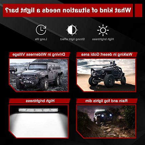 LED Bar 22Inch 20000LM Upgrated Led Work for Offroad Driving Fog Lamp Marine Boating WATERPROOF & Light Bars, Year Warranty
