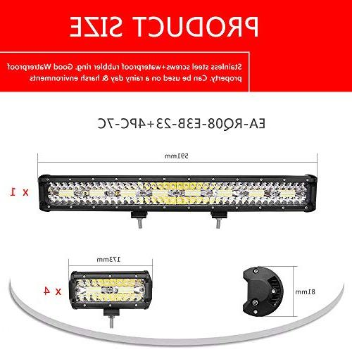 Autofeel LED Bar, 2PCS 7 Inch Triple Row Flood Combo Beam Bar Driving Lights Ford 1 Year Warranty