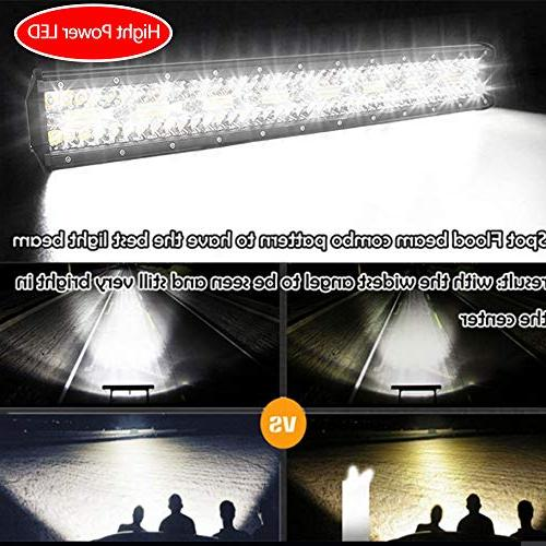 Autofeel LED 23 2PCS Triple Row Combo Led Bar Driving Lights Jeep Ford 1 Year Warranty