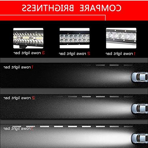 Autofeel Bar, 23 Inch 297W + 2PCS 7 Triple Row Combo Led Bar Driving Ford Trucks Boat, Year