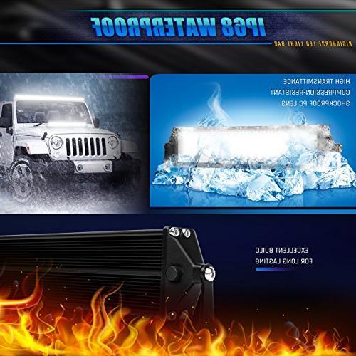 Rigidhorse Light 5 600W 35000LM Combo Beam Light LED Jeep UTV Boat,