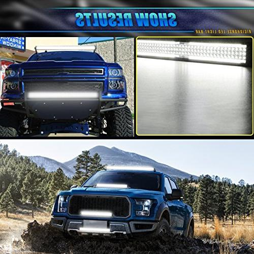 Rigidhorse Light 5 Row 600W Flood Combo Bar LED Light Jeep UTV Truck Year