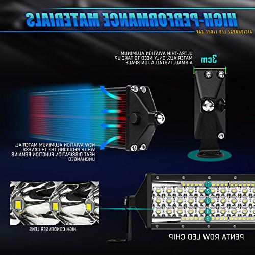 Rigidhorse LED Light 5 30 600W Combo Bar LED for Jeep Pickup UTV Truck Boat, 5 Year Warranty