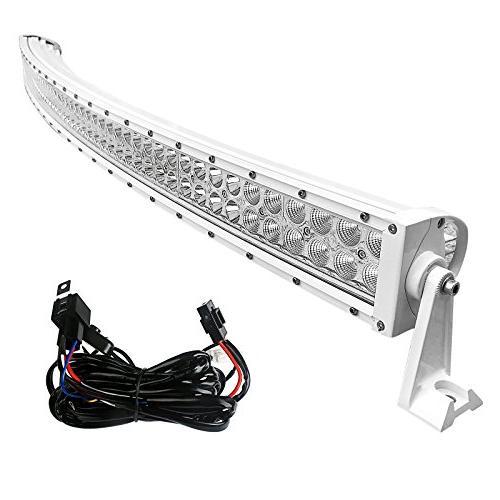 led light bar 50 inch curved white