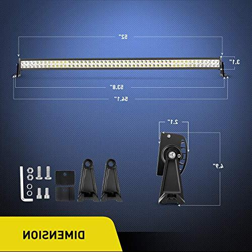 LED Light Nilight 52Inch Light LED Bar Driving Off-Road Lights for Off-road ATV, SUV, UTV, Jeep, Boat,2 Years