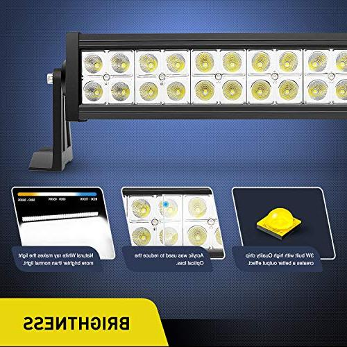 LED Bar 52Inch 300W LED Work Light LED Lights Bar Driving for Off-road Vehicle, SUV, UTV, 4WD, Boat,2 Years