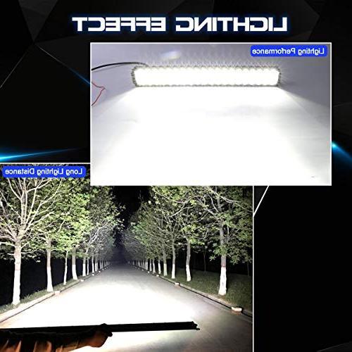LED Bar Rigidhorse Inch 500W 32 Inch 300W Combo LED Bars + 4PCS 30W LED Pods Fit For Truck ATV, 3