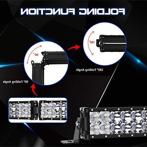 LED Light Rigidhorse 500W 300W Flood Combo White LED Bars 30W Light Pods Fit For ATV, 3 Years