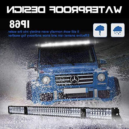 LED Rigidhorse 98000LM 500W 32 Combo White LED Bars 30W LED Light Pods Fit ATV,