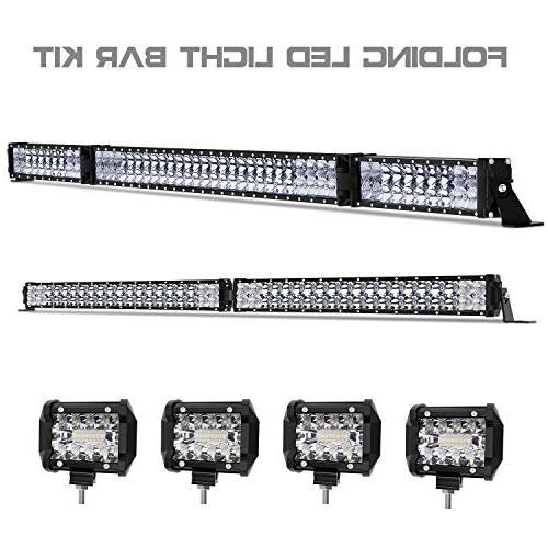 led light bar kit 120000lm 52 inch