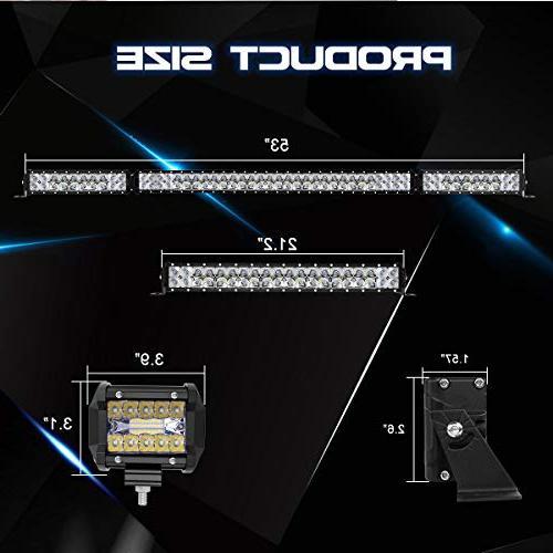 LED Bar Rigidhorse 500W + 22 Combo White Bars 30W LED Fit ATV, 3