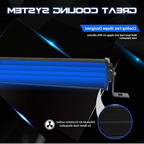LED Bar Kit, Rigidhorse Inch 500W 300W Flood Spot Beam Combo LED Bars + Fit ATV, Years Warranty